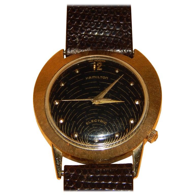 Vintage Hamilton Spectra Men's Watch In 14-Karat Gold For