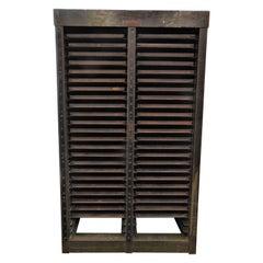 Vintage Hamilton Steel Printmaker's Storage Cabinet
