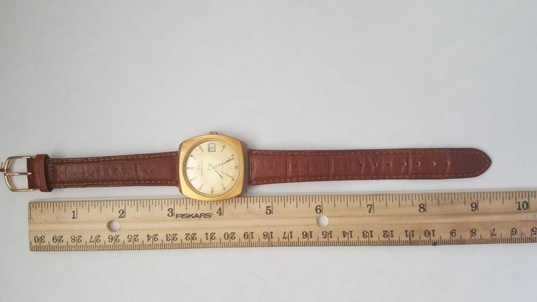 Hamilton Watch 1960s 14 Karat Gold Filled Self Winding Swiss Leather Band 2