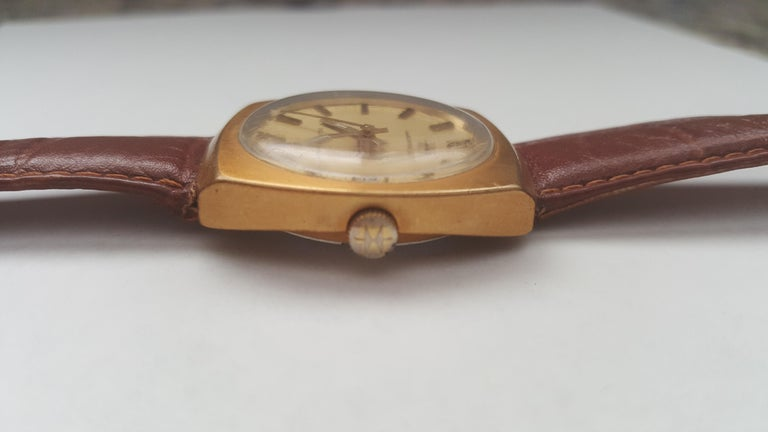 Hamilton Watch 1960s 14 Karat Gold Filled Self Winding Swiss Leather Band 3