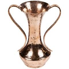 Vintage Hammered Copper Urn, Newly Polished