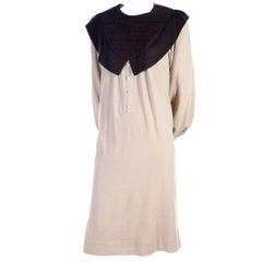 Vintage Hanae Mori Dress With Pilgrim Collar Size 8