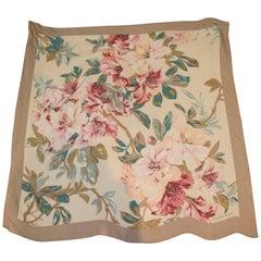 Vintage Hanae Mori Silk Scarf