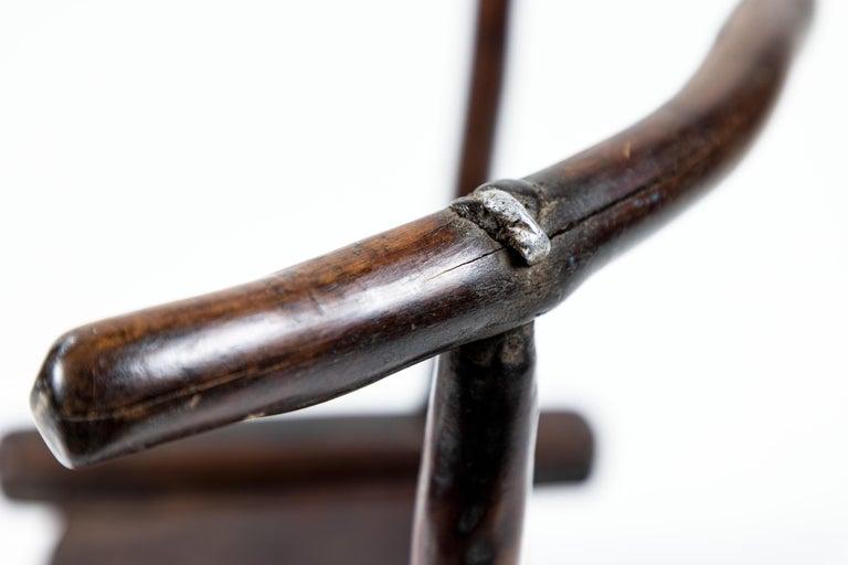 Vintage Hand Carved African Baule Tribal Chair 1