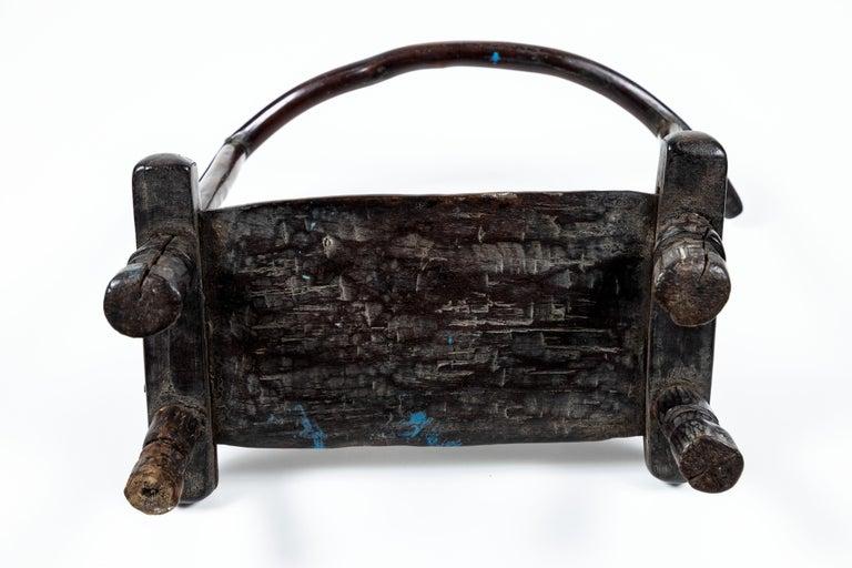 Vintage Hand Carved African Baule Tribal Chair 2