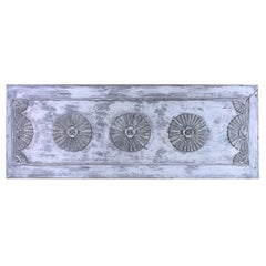 Vintage Hand Carved Architectural Wood Wall Hanging