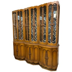 Vintage Hand Carved China Cabinet