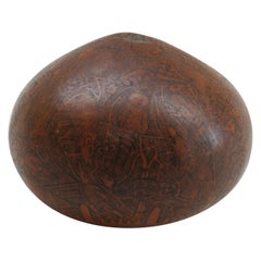Vintage Hand Carved Decorative Gourd from South America