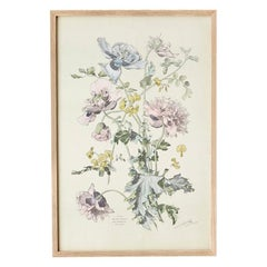 Vintage Hand-Colored Botanical Print, Italy '19th Century'