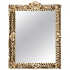 Vintage Handcrafted Shell Mirror