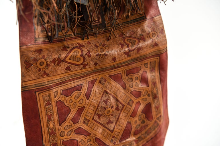 Vintage Hand Decorated Moroccon Leather Bag 2