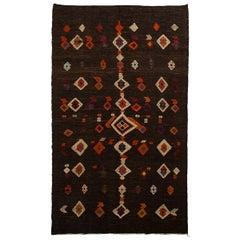 Vintage Hand-Embroidered Turkish Kilim Rug 'Flat-Weave'