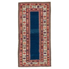 Vintage Hand-Knotted Caucasian Talish Rug, 100% Wool and Natural Dyes