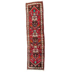 Vintage Hand Knotted Iranian Wool Area Rug  / Runner