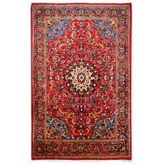 Sarouk Handgeknüpfter Orientalischer Teppich in Rot und Blau