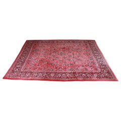 Vintage Hand-Knotted Persian Sarouk Room Size Rug
