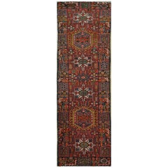 Vintage Hand-Knotted Short Persian Karajeh Runner Rug