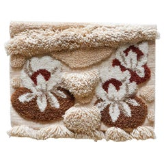 Vintage Hand Knotted Wool Tapestry, circa 1970