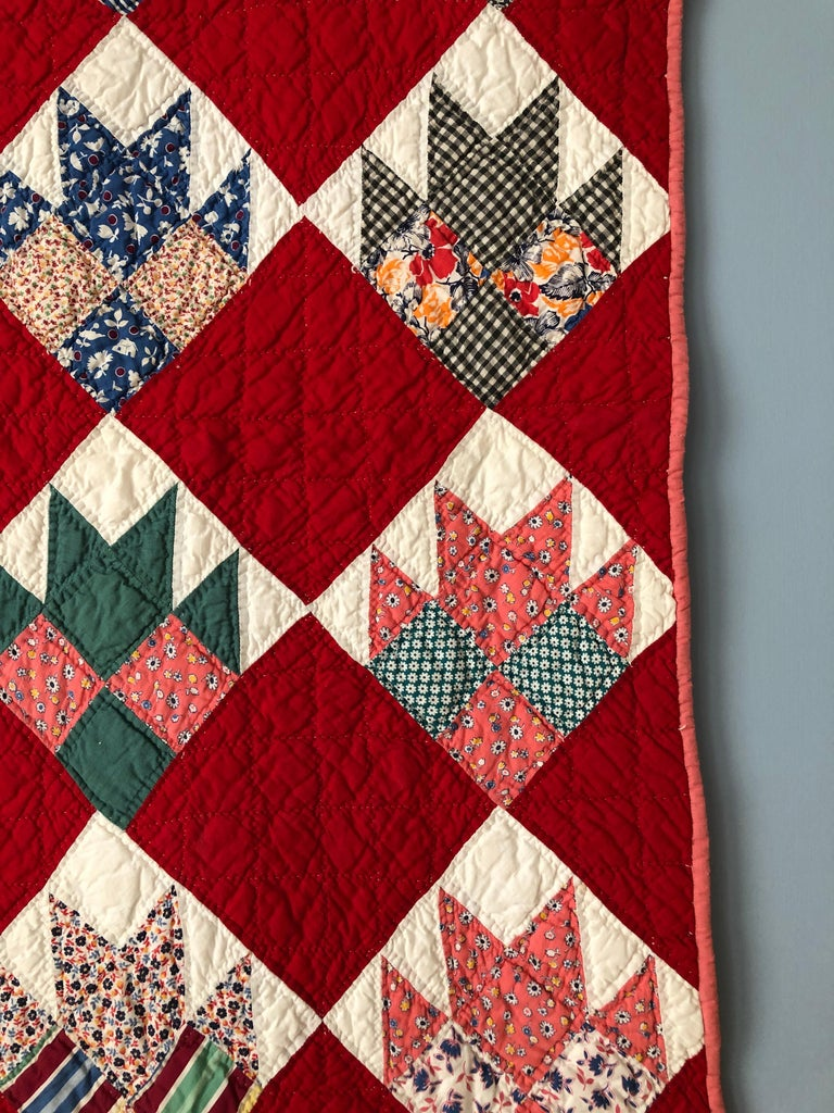 Mid-20th Century Vintage Handmade Patchwork