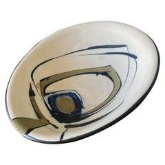Vintage Hand Painted Asymmetrical Bowl by Harsa Studios Israel