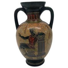 Vintage Hand Painted Greek Amphora