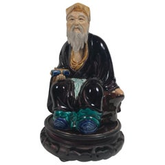 Vintage Hand Painted Large Chinese Mudman Figure