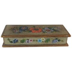 Vintage Hand Painted Mexican Decorative Box