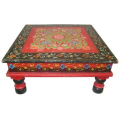 Vintage Hand Painted Table or Flower Stand, circa 1920s
