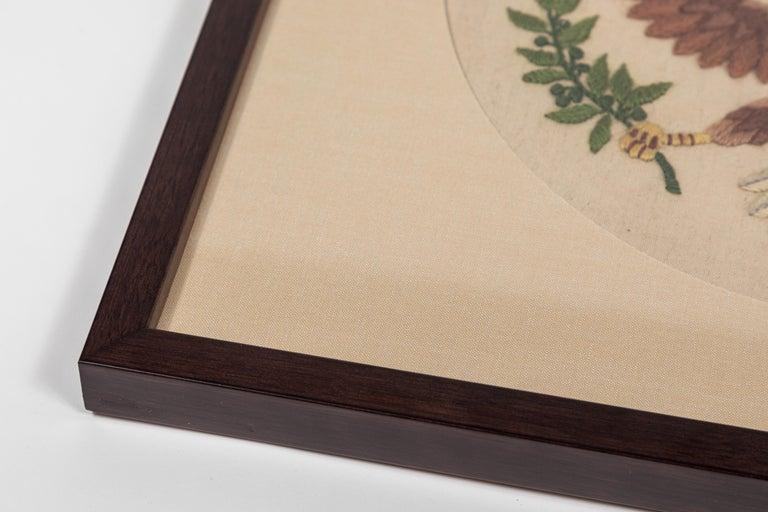 Vintage Handstitched Crewel Panel / US National Emblem In Good Condition For Sale In Pasadena, CA