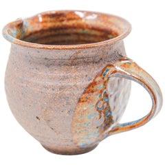 Vintage Hand Thrown Pottery Jug Artisan Stoneware