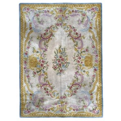 Vintage Hand Tufted Savonnerie Style Rug