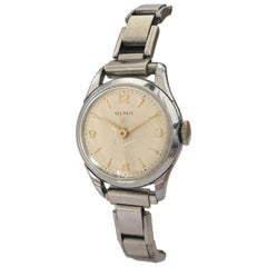 Vintage Hand-Winding Olma Swiss Made Ladies Wristwatch with Flexible Strap