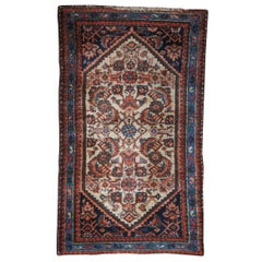 Vintage Hand Woven Iranian Bidjar Floral Wool Area Rug Carpet Persian