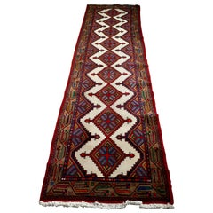 Vintage Hand Woven Persian, Carpet Runner