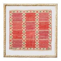 Vintage Handwoven Wall Tapestry by Märta Maas-Fjetterström