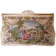 Vintage Handbag with Sliding Clasp