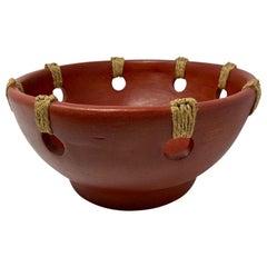 Vintage Handcrafted Midcentury Terracotta Bowl