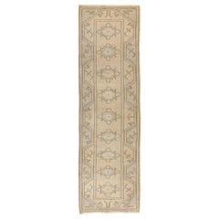 2.8x9 Ft Vintage Hand-Knotted Central Anatolian Runner Rug