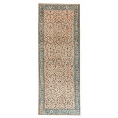 5x13 Ft Vintage Handmade Central Anatolian Runner Rug with Floral Design