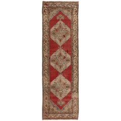 Antique Turkish Oushak Runner.  One of a kind Wool Rug. 3.4x10.2 Ft