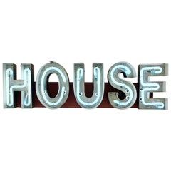 "Vintage Handmade Neon ""HOUSE"" Sign"