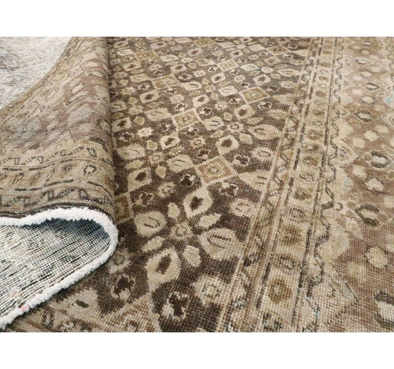 20th Century Vintage Handmade Persian Mahal Accent Rug For Sale