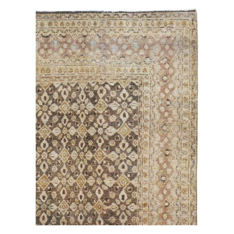 Vintage Handmade Persian Mahal Accent Rug For Sale 2