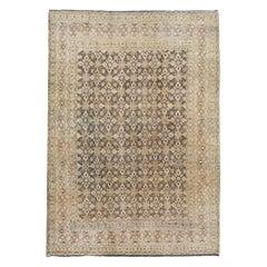 Vintage Handmade Persian Mahal Accent Rug