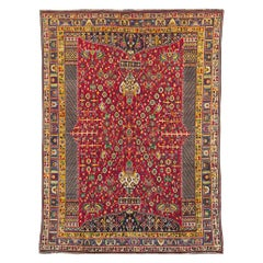 Vintage Handmade Persian Shiraz Accent Rug