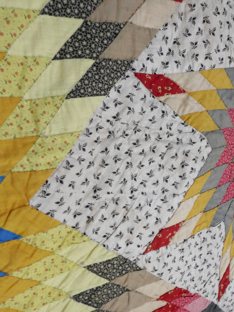 Vintage Handmade Star Quilt For Sale 2