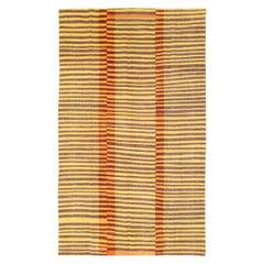 Vintage Handmade Turkish Flat-Weave Kilim Accent Rug