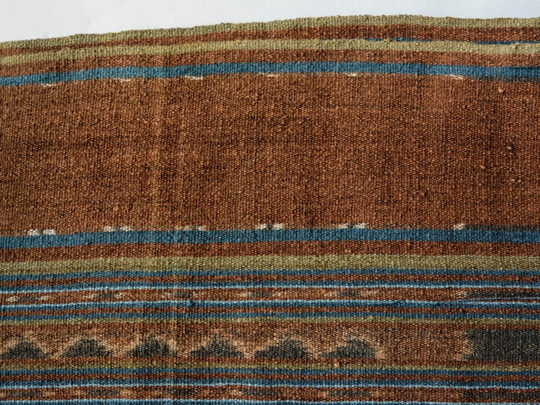 Vintage Handspun Cotton Ikat, Uncut Warp, Lembata, Indonesia, Mid-20th Century In Good Condition For Sale In Point Richmond, CA