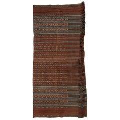 Vintage Handspun Cotton Ikat, Uncut Warp, Lembata, Indonesia, Mid-20th Century