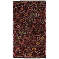 Vintage Handwoven Anatolian Jajim Kilim